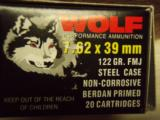 Wolf 7.62x39mm Ammo - 1 of 2