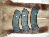 Bundle of THREE Master Molder 30RD AK 47 7.62x39mm Magazines