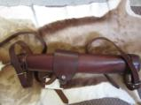 leather scabard hand made coach gun - 1 of 2