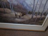 Bull Elk in a Fall Mountian Scene 1977 by Northwind Publications and Lori Nass - 3 of 3