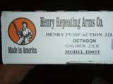 Henry H003T Pump action Rifle NEW in Box - 6 of 6