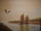 Ginny Malcotte Painting 2 ducks on a lake- 3 of 3