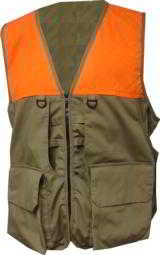 World Famous Sports Deluxe Tan & Blaze Orange Upland Game Vest