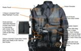 UTG 547 Law Enforcement Tactical Vest, Left Handed, Black - 2 of 4