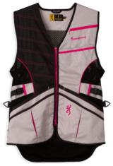 Browning Ace Shooting Vest for Her, Hot Pink