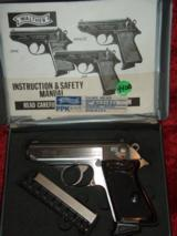 Interarms Walther PPK .380 acp Stainless (2) mags in box!!