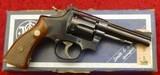 """Smith & Wesson S&W 22 Combat Masterpiece, .22 lr, 4"""" bbl, wood grips w/box"""