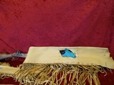 Traditions Hawkens Deer Pelt-Hide Case Combo .50 BP Beaded Fringed Leather - 10 of 13