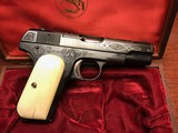 Colt 1903 Engraved Automatic pistol .32 cal with Colt Presentation Box