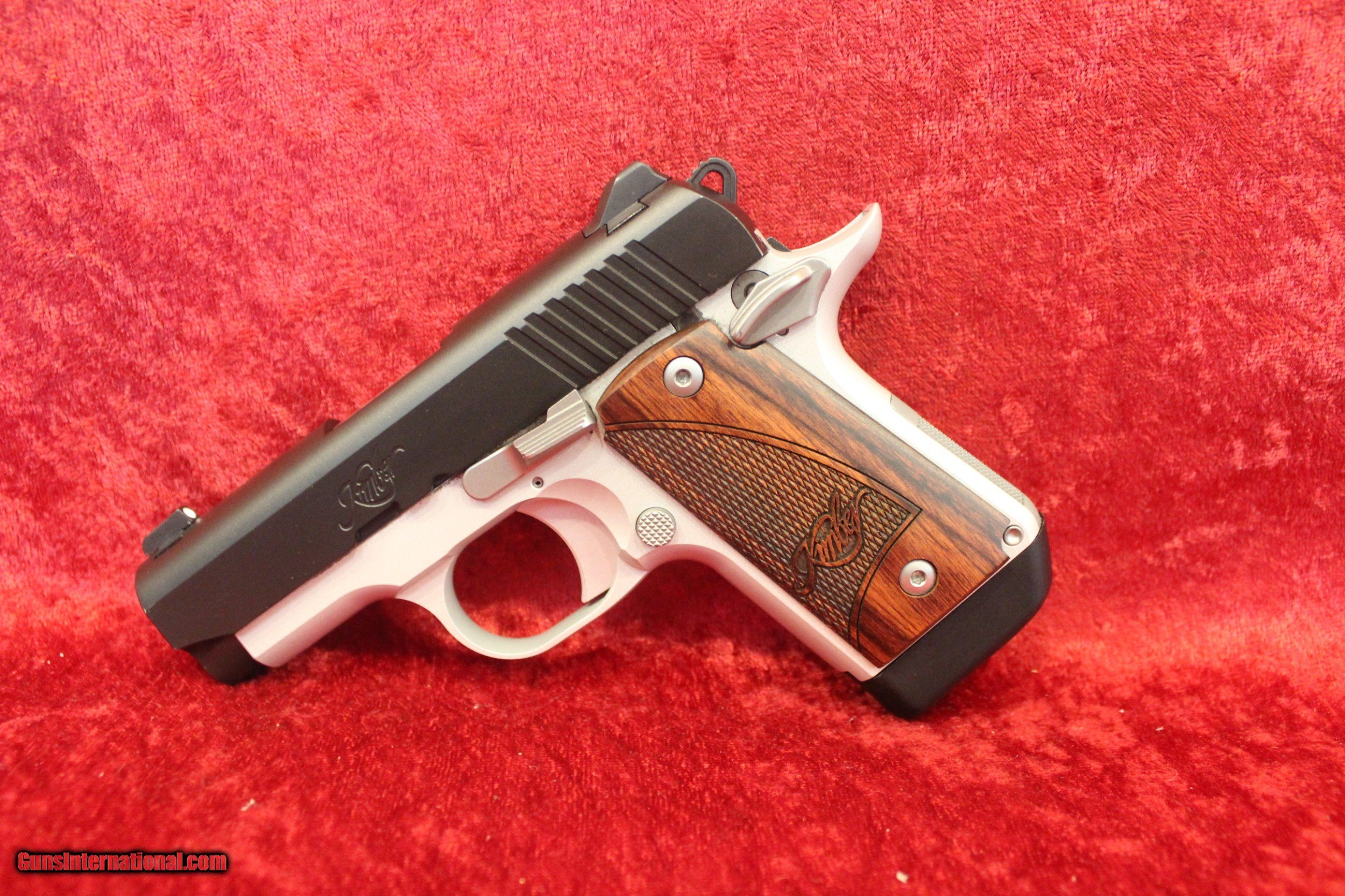 Kimber Micro 9 Two-Tone 9 mm pistol Rosewood Grips, 3