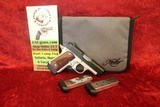Kimber Micro 9 Two-Tone 9 mm pistol Rosewood Grips, 3 Factory Mags & Soft Case