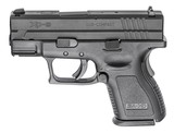 """Springfield Armory XDD9801HC XD Defender Sub-Compact 9mm Luger Double 3"""" 13+1 Black Polymer Grip/Frame Black Melonite Slide Pistol New"""