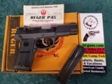 Ruger P85 MKII semi-auto 9 mm pistol (2) 15-round mags & original box/paperwork