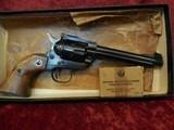 "Ruger Single Six (Old Model) 3-screw .22 lr/.22 mag 5.5"" barrel wood grips w/box - 2 of 20"