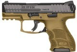 "HK VP9SK STIKER FIRED 9MM 3.39"" BBL 3-DPT FS 2-10RD FDE, 9MM - 1 of 1"