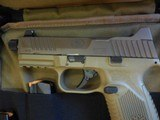 FN 509 Tactical 9 mm Luger FDE NS NEW with 3 mags (1-17 rd & 2-24 rd) - 3 of 5