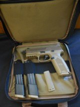 FN 509 Tactical 9 mm Luger FDE NS NEW with 3 mags (1-17 rd & 2-24 rd)