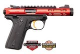 New Ruger Mark IV 22/45 Lite Red W/Gold Trigger Semi-Automatic Pistol, 22LR