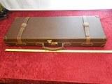 Vintage Merkel Italian Leather Shotgun Hard Case made by Emmebi.