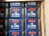 CCI Ammo 22 CB Long 29 grain Lead Round Nose NEW 5,000 rounds