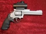 "Smith & Wesson S&W 617-1 10-shot .22 lr revolver SS 6"" bbl Truglo Sight - 1 of 10"