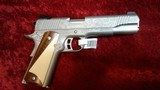 Kimber 1911 Classic Engraved Edition Stainless .45 acp pistol w/Two-Tone Wood Grips NEW in Box