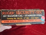 """Ruger Security Six .357 mag revolver, 4"""" bbl Stainless 200th Year of American Liberty - 3 of 19"""