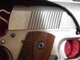Caspian Custom 1911 .45 pistol, Stainless Steel, Wood Grips, 4-DOT Red Dot with mount - 8 of 14