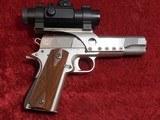 Caspian Custom 1911 .45 pistol, Stainless Steel, Wood Grips, 4-DOT Red Dot with mount - 2 of 14