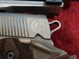 Caspian Custom 1911 .45 pistol, Stainless Steel, Wood Grips, 4-DOT Red Dot with mount - 5 of 14