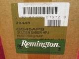 Remington Golden Saber .45 Auto Ammunition 230 grain Brass Jacketed Hollow Point 250 rds #GS45APB