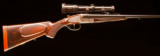 Ernest Dumoulin Herstal Double rifle ~ Exquisite!Cased with scope and in near condition and exquisitely engraved