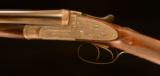 W.J. Jeffery 16g. High grade sidelock with exceptional engraving featuring Woodward style fences ~ cased! - 6 of 10