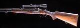 Pre-war Merkel O/U Double Rifle in very nice condition with claw mounts and scope - 3 of 11