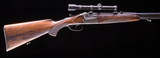 Pre-war Merkel O/U Double Rifle in very nice condition with claw mounts and scope - 4 of 11