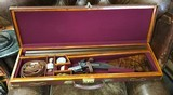 James Purdey Hammer Double cased with accessories featuring newly internally lined with Steel Damascus Barrels ( Teague method) - 17 of 18