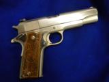 USED COLTGOVERNMENT MODEL .45ACP POLISHED STAINLESS STEEL - 1 of 5
