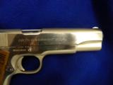USED COLTGOVERNMENT MODEL .45ACP POLISHED STAINLESS STEEL - 2 of 5