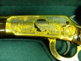WINCHESTER MODEL 94 PENNSYLVANIA LYCOMING COUNTY 24 KARAT GOLD COMMEMORATIVE RIFLE #2 OF 10 MANUFACTURED - 12 of 12