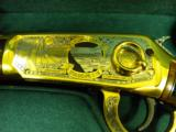 WINCHESTER MODEL 94 PENNSYLVANIA LYCOMING COUNTY 24 KARAT GOLD COMMEMORATIVE RIFLE #2 OF 10 MANUFACTURED - 7 of 12