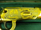 WINCHESTER MODEL 94 PENNSYLVANIA LYCOMING COUNTY 24 KARAT GOLD COMMEMORATIVE RIFLE #2 OF 10 MANUFACTURED - 11 of 12
