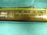 WINCHESTER MODEL 94 PENNSYLVANIA LYCOMING COUNTY 24 KARAT GOLD COMMEMORATIVE RIFLE #2 OF 10 MANUFACTURED - 4 of 11