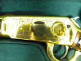 WINCHESTER MODEL 94 PENNSYLVANIA LYCOMING COUNTY 24 KARAT GOLD COMMEMORATIVE RIFLE #2 OF 10 MANUFACTURED - 6 of 11