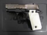 Sig Sauer P238 Pearl Black / Polish Stainless Engraved .380 ACP 238-380-ESW - 2 of 8