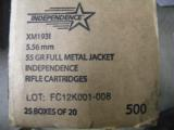 500 ROUNDS FEDERAL INDEPENDENCE AR 5.56 AMMUNITION (AR15 AMMO) - 1 of 4