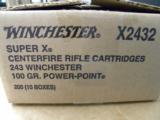 200 Round Case of Winchester 100 Grain .243 Winchester Power-Point - 2 of 2
