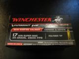 Winchester Varmint HE 17 WSM (Winchester Super Magnum) 25 Grain Hornady V-Max - 2 of 4