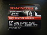 Winchester Varmint HE 17 WSM (Winchester Super Magnum) 25 Grain Hornady V-Max - 4 of 4