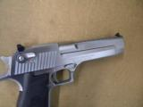 Magnum Research Desert Eagle Mark XIX .50 AE Brushed Chrome - 4 of 6