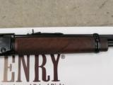 HENRY CLASSIC LEVER ACTION RIFLE ROUND BARREL .22 WMR MAGNUM H001M - 6 of 7